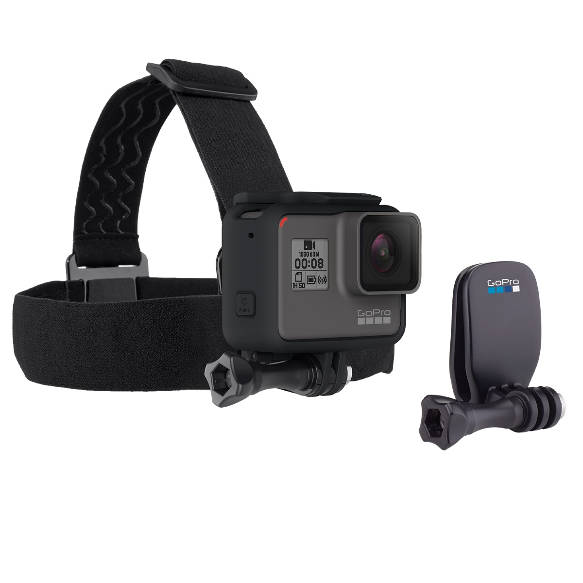 רצועת ראש מתכווננת Go Pro Headstrap+QuickClip For All Hero Type